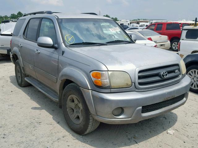 Salvage cars for sale from Copart Houston, TX: 2002 Toyota Sequoia SR