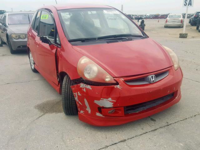 Salvage cars for sale from Copart New Orleans, LA: 2008 Honda FIT Sport