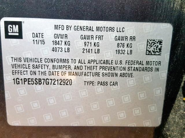 2016 Chevrolet Cruze Limi 1 4L 4 للبيع في Bridgeton MO - Lot: 37792009
