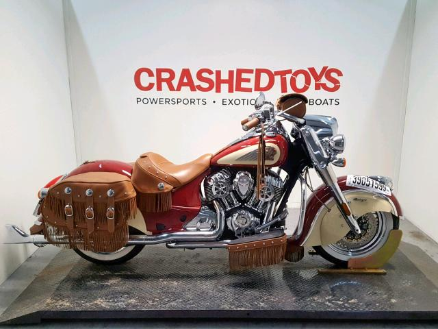 Salvage 2017 Indian Motorcycle Co. CHIEF VINT for sale