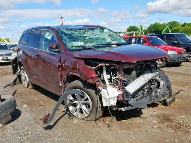 Salvage 2014 Toyota HIGHLANDER for sale