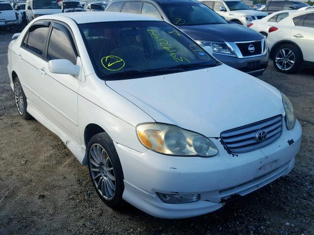 Salvage cars for sale from Copart Houston, TX: 2003 Toyota Corolla CE
