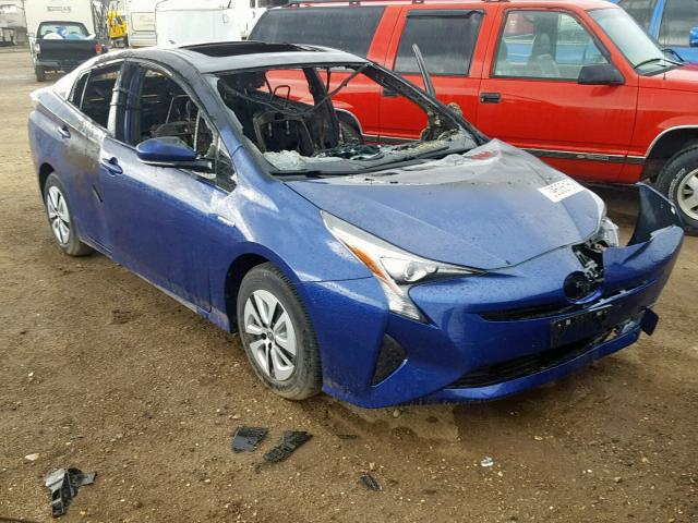 Salvage cars for sale from Copart Casper, WY: 2017 Toyota Prius