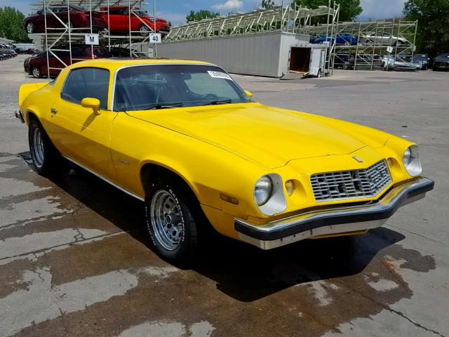Chevrolet Camaro salvage cars for sale: 1976 Chevrolet Camaro