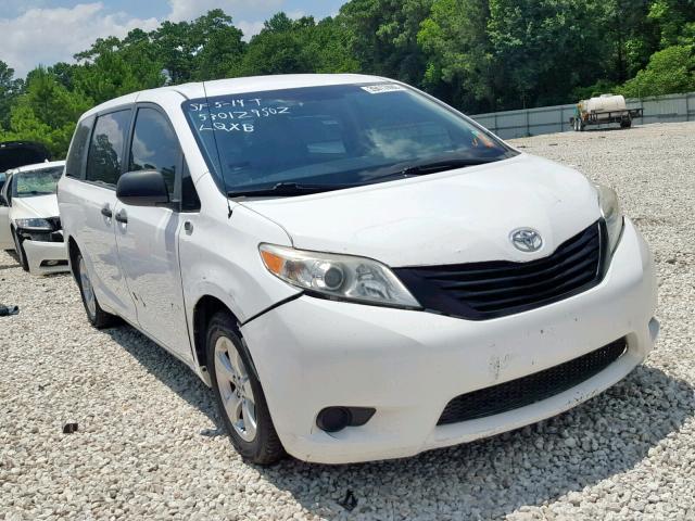 Salvage 2013 Toyota SIENNA for sale