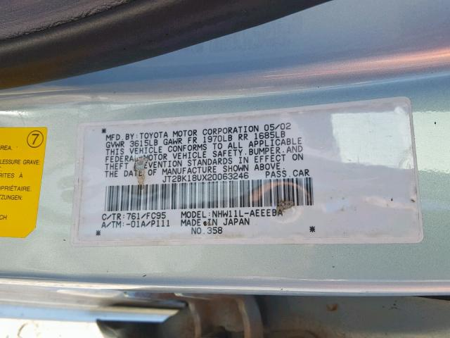 2002 TOYOTA PRIUS Photos | OR - PORTLAND NORTH - Salvage Car Auction