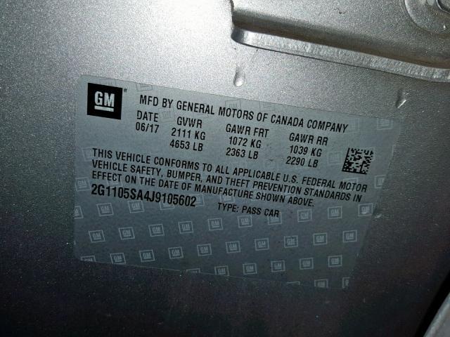 2018 Chevrolet Impala Lt 2 5L 4 للبيع في Hammond IN - Lot: 39850539