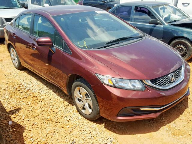 Salvage 2014 Honda CIVIC LX for sale