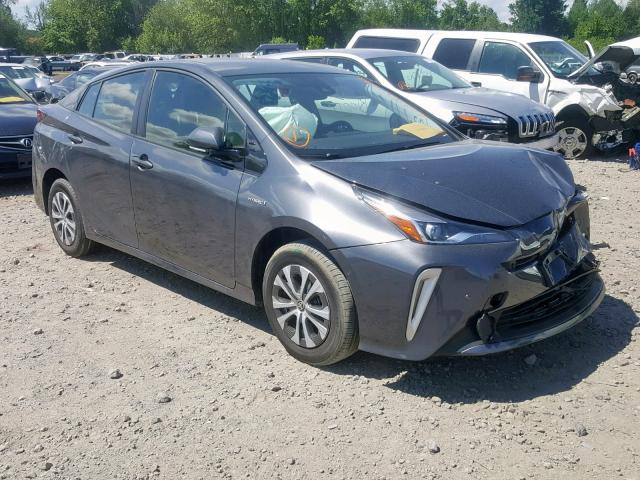 Salvage cars for sale from Copart Portland, OR: 2019 Toyota Prius