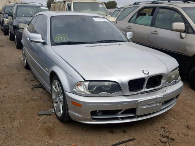 Salvage Certificate 2003 BMW 325 Ci Coupe 2 5L 6 For Sale in