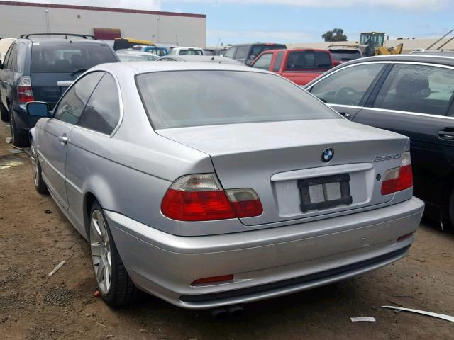 Salvage Certificate 2003 BMW 325 Ci Coupe 2 5L 6 For Sale in Hayward (CA) -  41381709