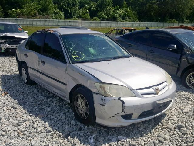Salvage 2005 Honda CIVIC DX V for sale
