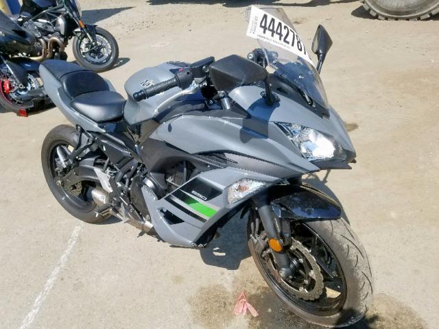 Salvage 2018 Kawasaki EX650 F for sale