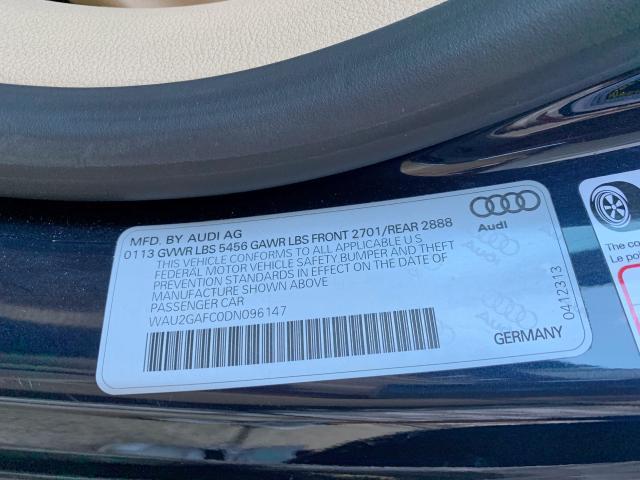 2013 Audi A7 Prestig 3.0L