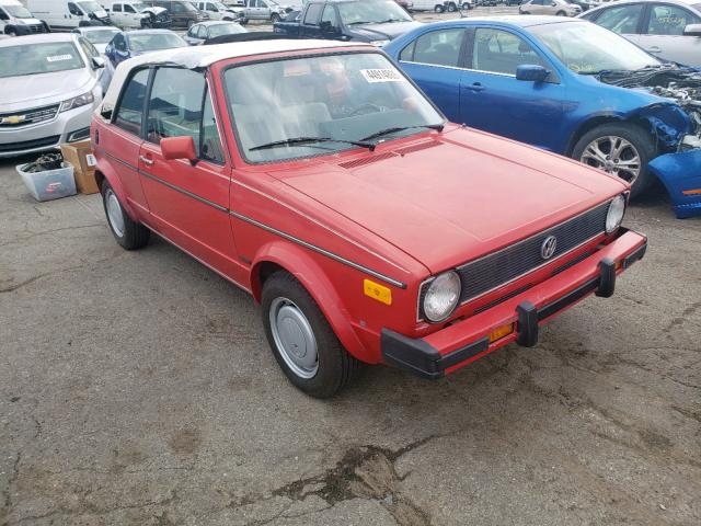 Salvage 1987 Volkswagen CABRIOLET for sale