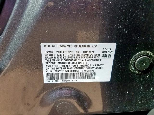 2019 Honda Passport E 3 5L 6 for Sale in Marlboro NY - Lot: 46186499