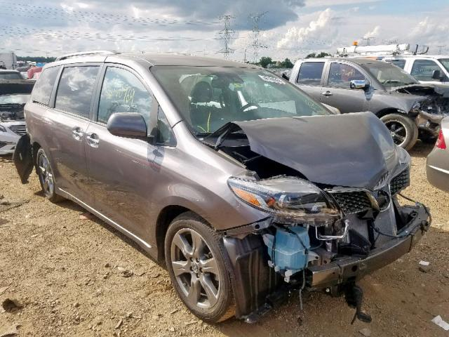 Salvage 2019 Toyota SIENNA SE for sale