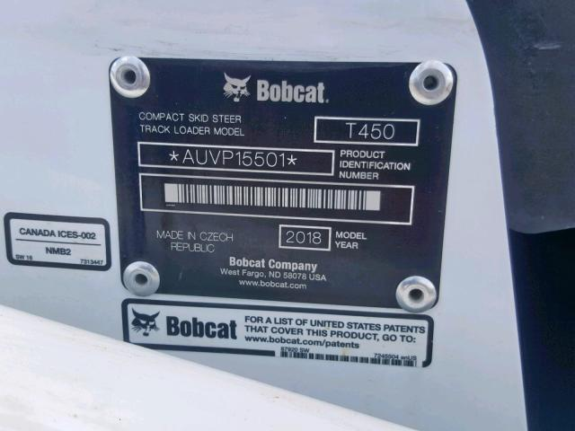 2018 Bobcat T450-R in TX - Dallas South (AUVP15501) for Sale