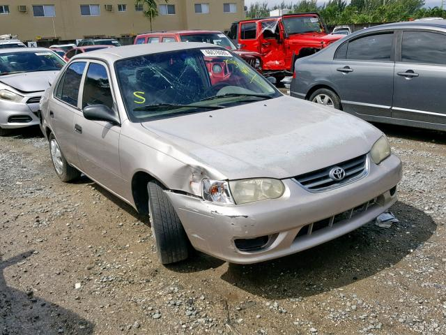 Salvage cars for sale from Copart Opa Locka, FL: 2001 Toyota Corolla CE