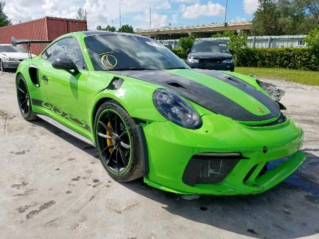 Auto Auction Ended On Vin Wp0af2a93ks165107 2019 Porsche 911 Gt3 Rs In Fl Miami Central