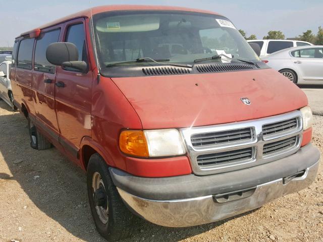 Salvage cars for sale at Bridgeton, MO auction: 2002 Dodge RAM Wagon