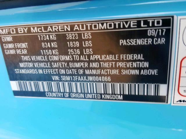 2018 MCLAREN AUTOMOTIVE 570S - 10
