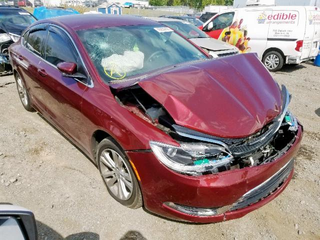 2015 Chrysler 200 Limited Red >> 2015 Chrysler 200 Limited For Sale At Copart Pennsburg Pa Lot 49938409 Salvagereseller Com