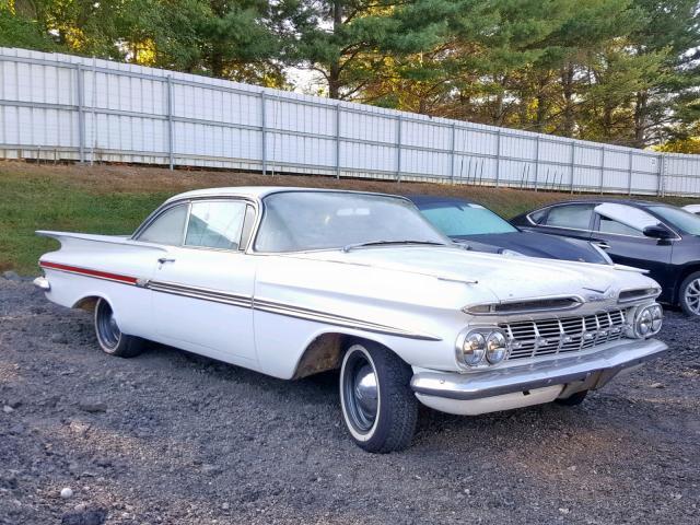 1959 Chevrolet Impala For Sale At Copart Finksburg Md Lot