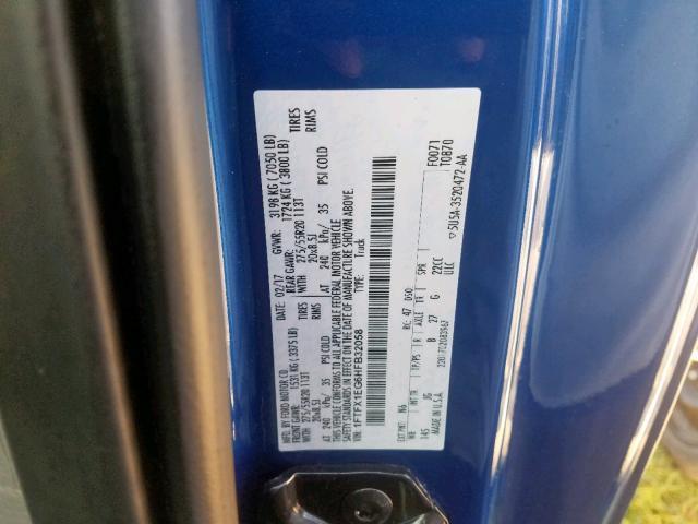 2017 Ford F150   Vin: 1FTFX1EG6HFB32058