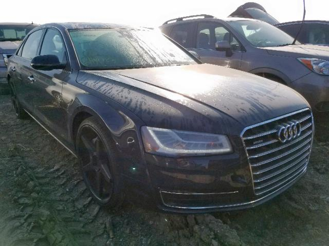 Salvage cars for sale from Copart Houston, TX: 2015 Audi A8 L Quattro