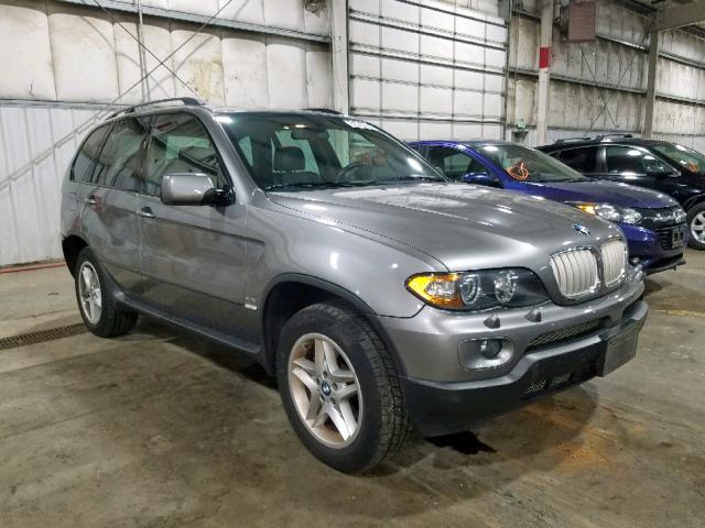 BMW salvage cars for sale: 2005 BMW X5
