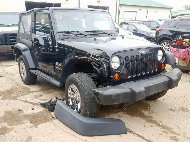 Jeep Wrangler X salvage cars for sale: 2009 Jeep Wrangler X