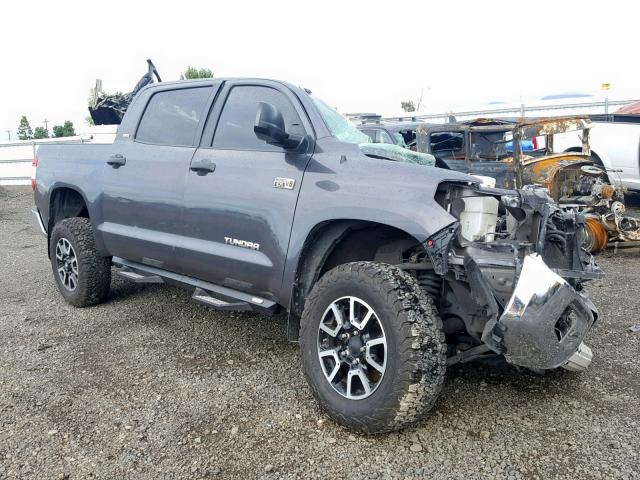 Salvage cars for sale from Copart Eugene, OR: 2016 Toyota Tundra CRE