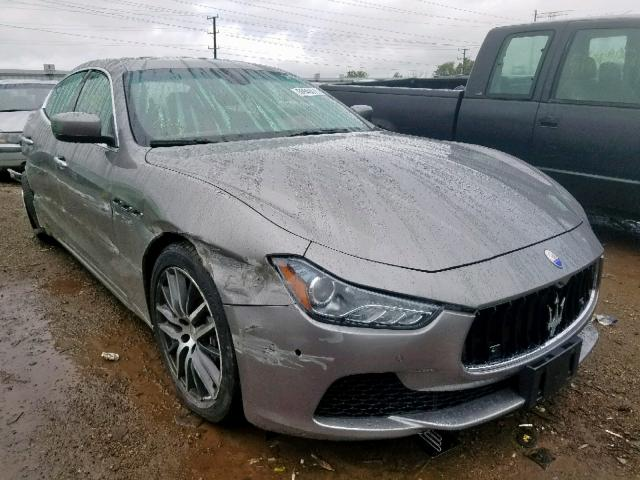 Maserati Ghibli S salvage cars for sale: 2015 Maserati Ghibli S