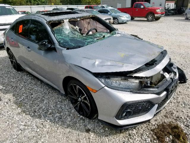 Salvage cars for sale from Copart Rogersville, MO: 2017 Honda Civic Sport
