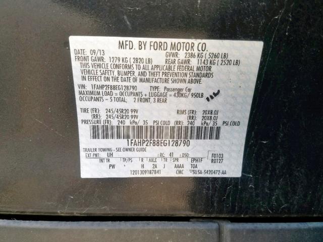 2014 Ford  | Vin: 1FAHP2F88EG128790