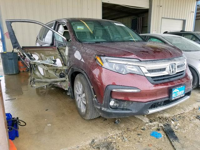 Salvage cars for sale from Copart San Antonio, TX: 2019 Honda Pilot EXL