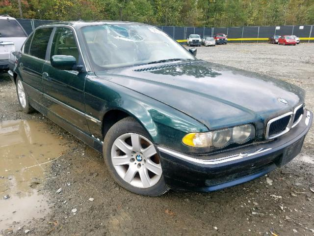 Salvage cars for sale from Copart Waldorf, MD: 2001 BMW 740 IL