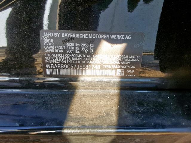 2018 BMW  | Vin: WBA8B9C57JEE81748