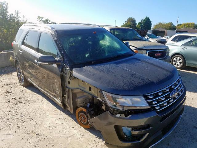 Salvage cars for sale from Copart China Grove, NC: 2017 Ford Explorer L