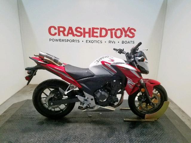 Salvage 2015 Honda CB500 F for sale