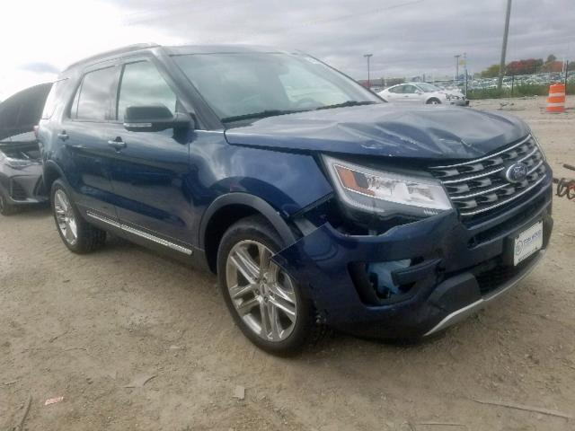 Salvage cars for sale at Indianapolis, IN auction: 2016 Ford Explorer X