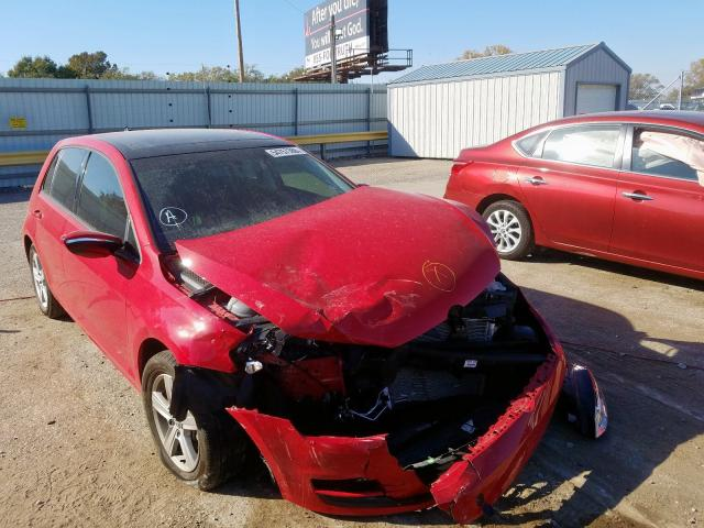 Salvage 2017 Volkswagen GOLF S for sale