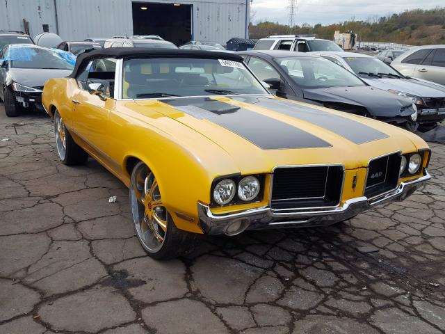 Oldsmobile Cutlass salvage cars for sale: 1972 Oldsmobile Cutlass