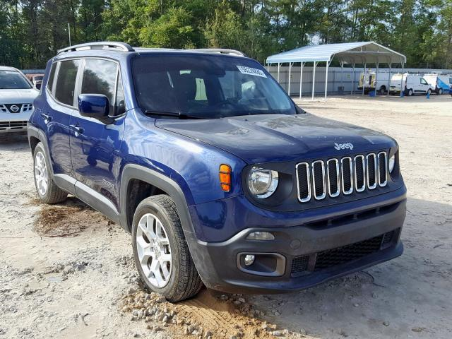 Salvage cars for sale from Copart Midway, FL: 2017 Jeep Renegade L