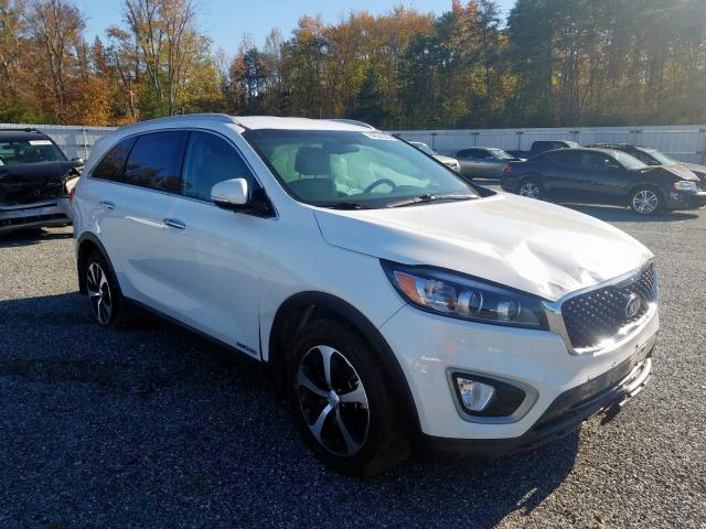 Salvage cars for sale from Copart Fredericksburg, VA: 2017 KIA Sorento EX