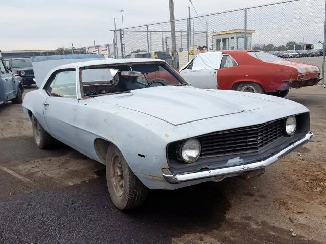 Chevrolet Camaro salvage cars for sale: 1969 Chevrolet Camaro