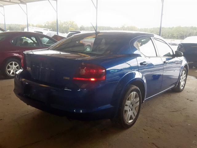 1C3CDZAGXCN322044 - 2012 Dodge Avenger Se 3.6L rear view