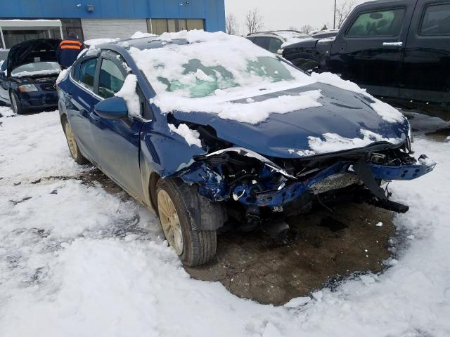 Salvage cars for sale from Copart Woodhaven, MI: 2019 Chevrolet Cruze LT