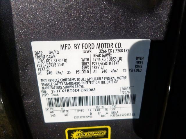 2013 Ford F150 | Vin: 1FTFX1ET5DFD62083